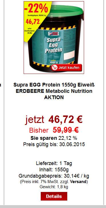 Supra EGG Protein Aktion